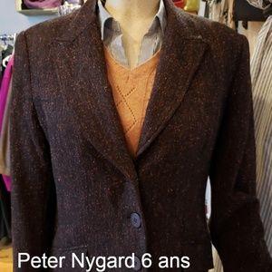 87% OFF silk and wool blazer